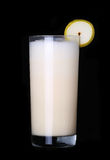 Milkshakes vanilla flavor ice cream on black. Milkshakes vanilla flavor ice cream isolated on black background royalty free stock image