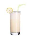 Milkshakes vanilla flavor ice cream isolated on white. Background royalty free stock photography