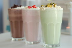 Milkshakes Stock Photos