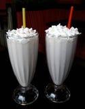 Milkshakes z batożącą śmietanką Zdjęcie Royalty Free