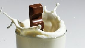 Milksplash royalty-vrije stock afbeelding