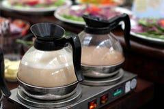 Milktea & coffee. It is some delicious breakfast milk tea & coffee Royalty Free Stock Photo