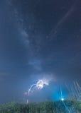 Milkway με το φωτισμό Στοκ εικόνα με δικαίωμα ελεύθερης χρήσης
