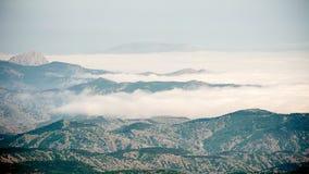 Milky-белые облака стоковая фотография rf