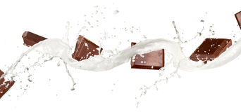 Milky chocolate Stock Images