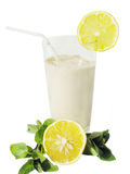 Milky cocktail with a lemon Royalty Free Stock Photo
