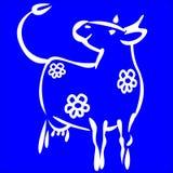 milky ko stock illustrationer