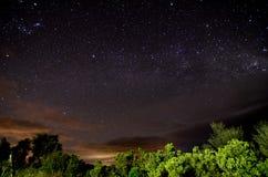 Milky långt nattSky Royaltyfria Bilder