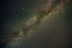 Milky långt stjärnor i sommarnatt Royaltyfri Fotografi