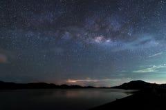 milky långt Vår galax Arkivfoto