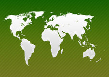 Milky Map of world green Stock Images