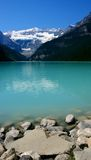 Milky Moraine Lake Stock Photography