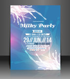 Milky Music Part Flyer Design Stock Photography
