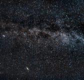 milky perseid för meteors långt Arkivfoto