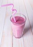 Milky raspberry cocktail Stock Photography