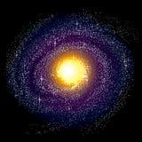 milky spiral för galax långt Royaltyfri Foto