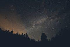 Milky sposób i shooting stars nad Breckenridge Kolorado Zdjęcia Royalty Free