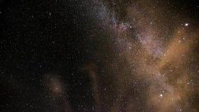 Milky sposób na nocy niebieskim niebie zdjęcie wideo
