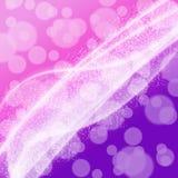 Milky sposób na purpury tle z bokeh Zdjęcie Stock