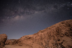 Milky sposób nad Atacama pustynią, Chile obrazy stock