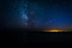 Milky sposób nad Atlantyckim oceanem, widzieć od Acadia obywatela zdjęcie royalty free
