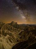 Milky sposób nad pustynią fotografia stock