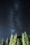 Milky sposób nad Tatrzańskie góry Obraz Stock