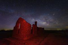 Milky sposób przy fortu gryfem, Teksas usa Fotografia Royalty Free