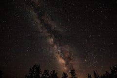 Milky sposób w górach obrazy stock