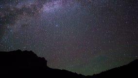 Milky sposób w górach Pamir, Tajikistan 4K zbiory wideo