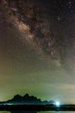 Milky sposób w niebie Obraz Stock