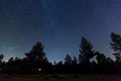 Milky sposób widzii przy Jeziornym Tahoe Zdjęcia Royalty Free