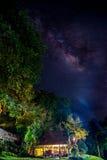 Milky sposób zgłębia niebo Zdjęcia Stock