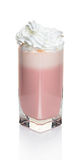 Milky strawberry cocktail in a glass Stock Photo