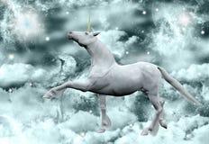 milky under unicorn långt royaltyfri illustrationer