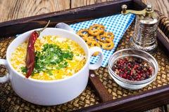 Milky vegetable суп диеты стоковое фото rf
