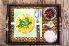 Milky vegetable суп диеты стоковое изображение