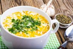 Milky vegetable суп диеты стоковые изображения