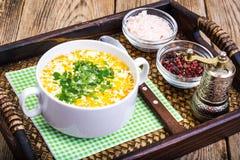 Milky vegetable суп диеты стоковые фотографии rf