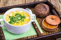 Milky vegetable суп диеты стоковая фотография rf