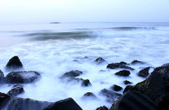 The Milky way. Long Exposure shot taken at the beach Road, Pondicherry, Tamil Nadu, India Stock Photography