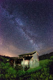 Milky way. The Milky way abouve a construction Stock Image