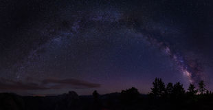Milky way above horizon