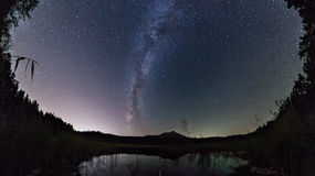 The Milky Way above the lake. royalty free stock photo