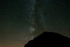 Milky Way above mountain ridge Royalty Free Stock Photography