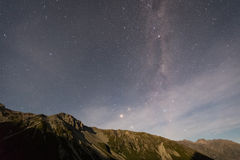 Milky way above mountain Royalty Free Stock Image