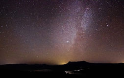 Milky way above the mountains Royalty Free Stock Photography