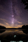 The Milky Way Above Price Lake Royalty Free Stock Image