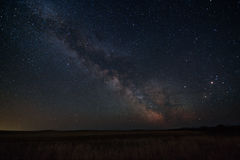 Milky Way above the steppe. Stock Images