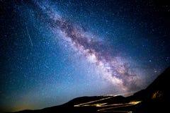 Milky way above Transalpina pass Stock Photo